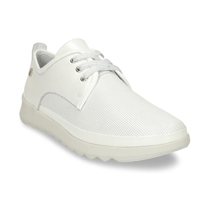 Bílé dámské kožené sportovní polobotky flexible, bílá, 524-1619 - 13