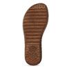Zlaté dámské kožené sandály comfit, zlatá, 565-8601 - 18