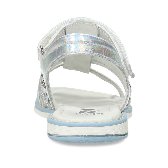 Kožené dívčí sandály kožené mini-b, stříbrná, 361-9616 - 15
