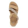 Béžové dámské kožené sandály na platformě bata, béžová, 564-8603 - 17