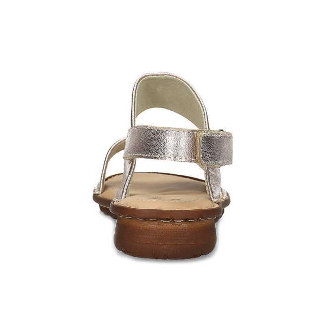 Zlaté dámské kožené sandály comfit, zlatá, 565-8601 - 15