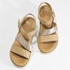 Béžové dámské kožené sandály na platformě bata, béžová, 564-8603 - 16