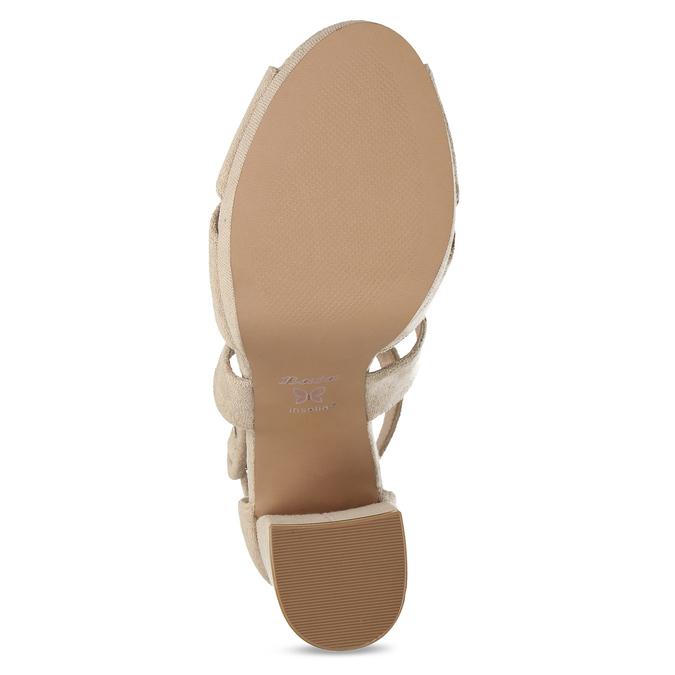 Béžové sandály na vysokém podpatku insolia, béžová, 769-8605 - 18