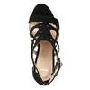 Černé dámské sandály na jehlovém podpatku bata, černá, 769-6606 - 17