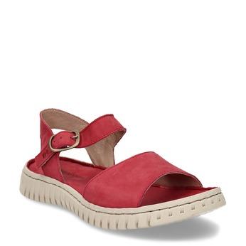 Červené dámské kožené sandály weinbrenner, červená, 566-5623 - 13