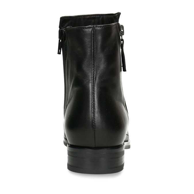 Dámská obuv z černé kůže ke kotníkům bata, černá, 594-6697 - 15
