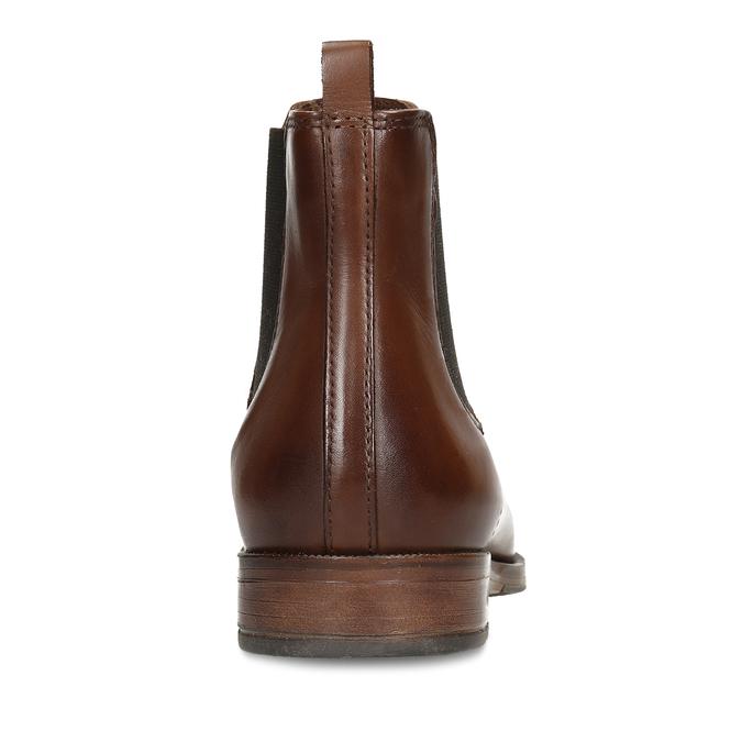 Dámská kožená obuv v Chelsea stylu bata, hnědá, 594-4615 - 15