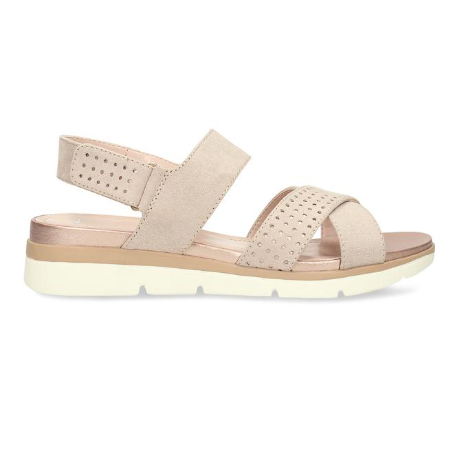 Béžové dámské sandály na suchý zip bata, béžová, 569-8605 - 19