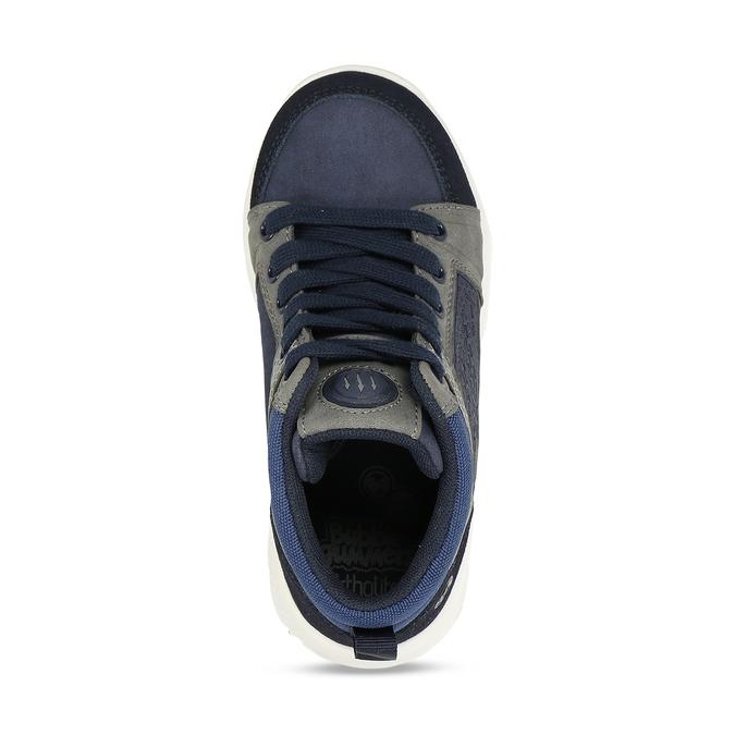 Modro-šedé chlapecké kotníkové tenisky bubble-breathe, modrá, 211-9600 - 17