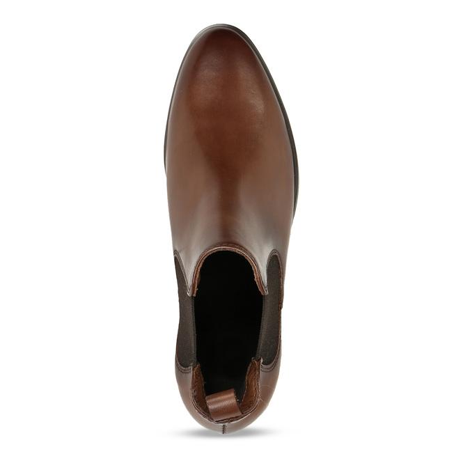 Kožená dámská Chelsea obuv hnědá bata, hnědá, 594-4617 - 17