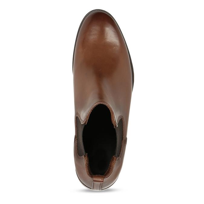 Dámská kožená obuv v Chelsea stylu bata, hnědá, 594-4615 - 17