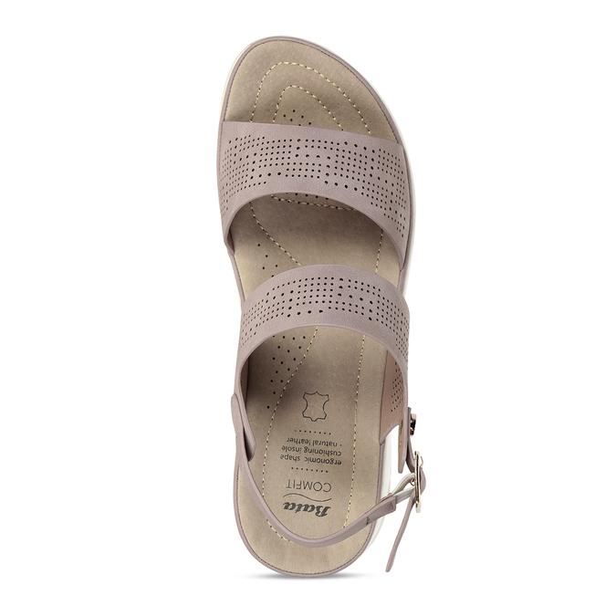 Dámské růžové sandály s perforací comfit, růžová, 561-5603 - 17