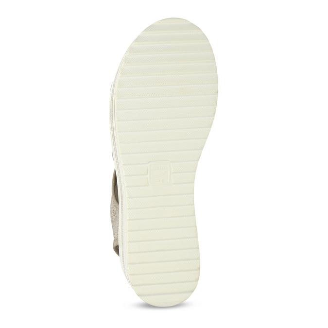 Béžové sandály na flatformě bata-light, zlatá, 669-8625 - 18