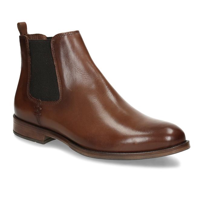 Dámská kožená obuv v Chelsea stylu bata, hnědá, 594-4615 - 13