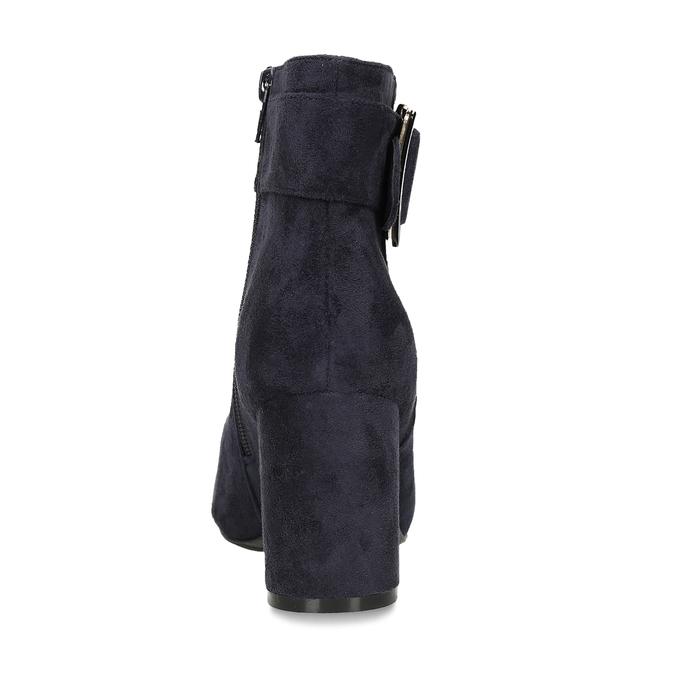 Modrá dámská kotníková obuv na podpatku bata, modrá, 799-9612 - 15