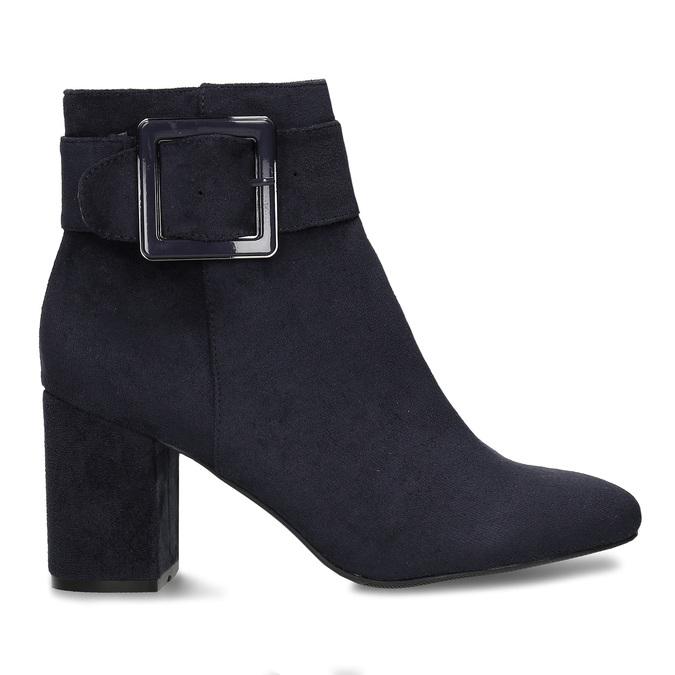 Modrá dámská kotníková obuv na podpatku bata, modrá, 799-9612 - 19