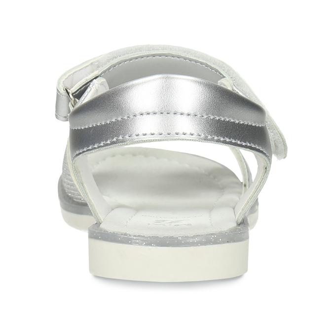 Stříbrné dětské sandály na suché zipy mini-b, stříbrná, 261-1601 - 15