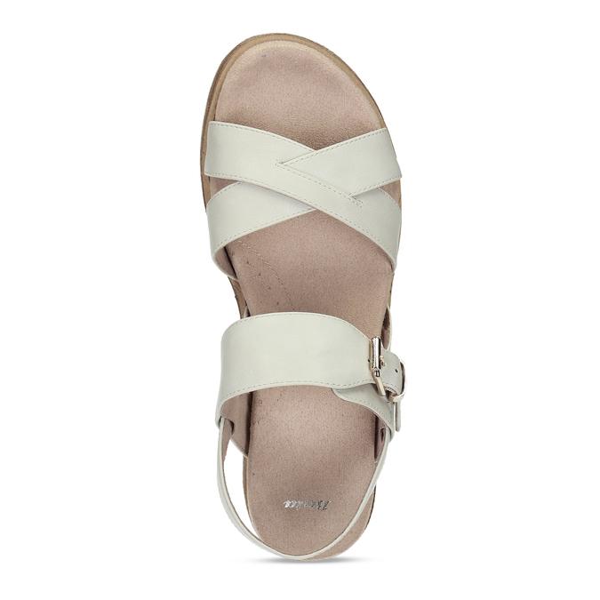 Dámské páskové sandály na platformě bata, bílá, 561-1605 - 17