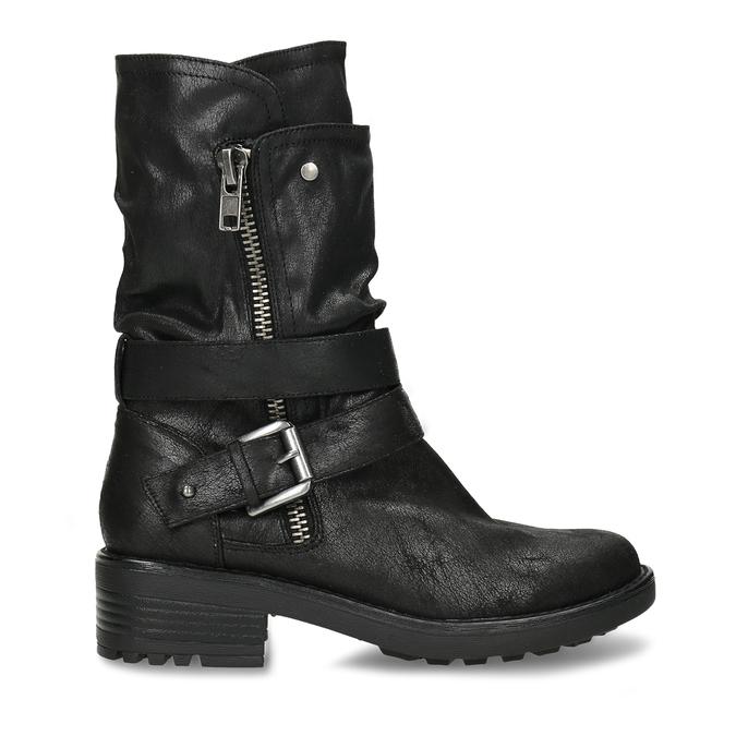 DÁMSKÉ BIKER BOOTS ČERNÉ bata, černá, 599-6605 - 19