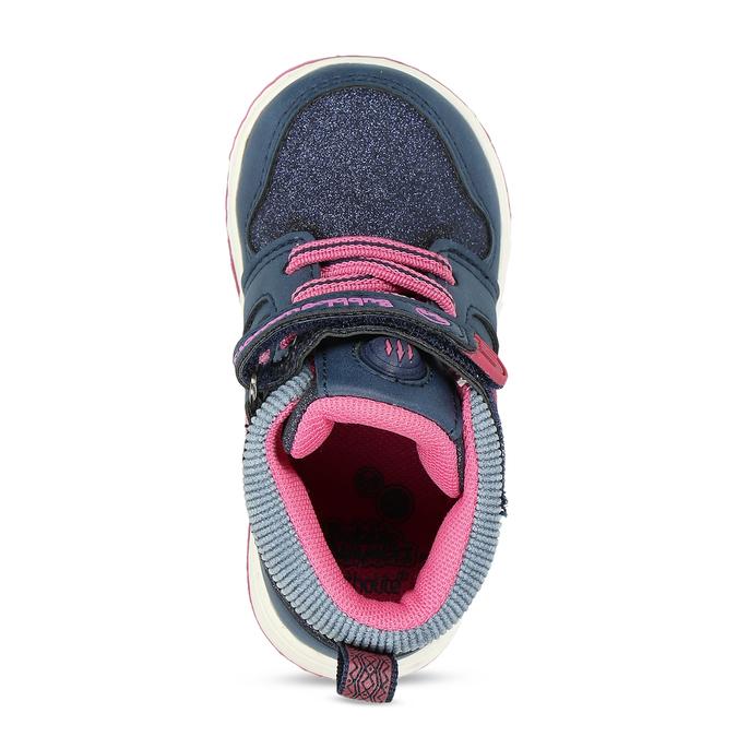 Dětské kotníkové tenisky s růžovými detaily bubble-breathe, modrá, 121-9600 - 17