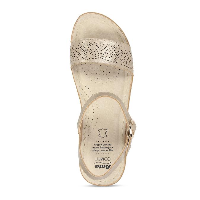 Zlaté dámské sandály na platformě comfit, zlatá, 661-8633 - 17