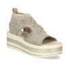 Béžové sandály na flatformě bata-light, zlatá, 669-8625 - 13