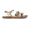 Dětské zlaté kožené sandály se srdíčky mini-b, zlatá, 466-5620 - 19