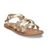 Dětské zlaté kožené sandály se srdíčky mini-b, zlatá, 466-5620 - 13