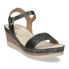 Dámské sandály na platformě comfit, černá, 661-6633 - 13