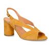 Žluté dámské kožené sandály na stabilním podpatku bata, žlutá, 763-8602 - 13