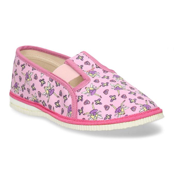 RŮŽOVÉ DÍVČÍ PŘEZŮVKY S MOTIVEM VÍL bata, růžová, 379-5601 - 13