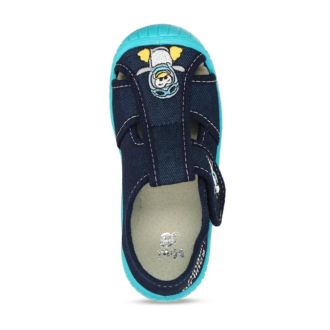 Chlapecké papuče s výšivkou mini-b, modrá, 179-9606 - 17