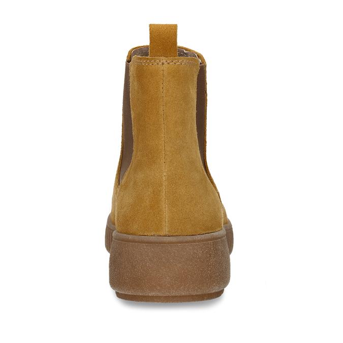 Žlutá kožená dámská kotníková Chelsea obuv bata, žlutá, 593-8615 - 15