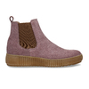 Růžová dámská kožená kotníková Chelsea obuv bata, růžová, 593-5615 - 19