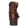 Hnědá dámská kožená kotníková obuv bata, hnědá, 594-4622 - 15