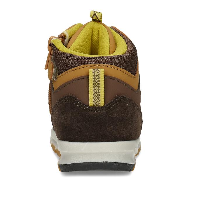 Dětská kotníková obuv v hnědé barvě bubblegummers, hnědá, 111-4611 - 15