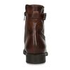 Dámská kožená kotníková obuv se šněrováním bata, hnědá, 594-4664 - 15