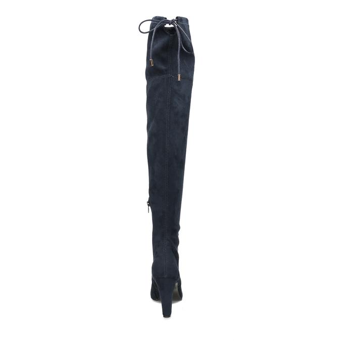 Modré dámské kozačky nad kolena bata, modrá, 799-9600 - 15