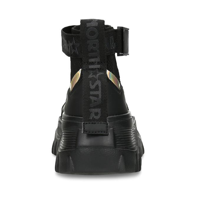 Černé dámské Chunky tenisky s perforací north-star, černá, 549-6614 - 15