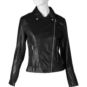 Koženková dámská bunda bata, černá, 971-6264 - 13