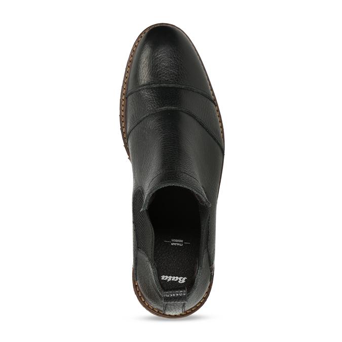 Pánská kožená Chelsea obuv černá bata, černá, 826-6714 - 17