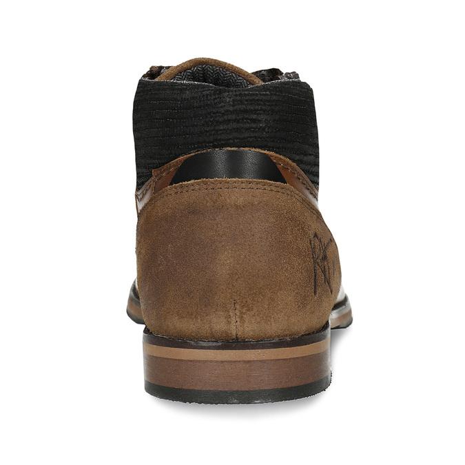 Hnědá pánská kotníková obuv kožená bata, hnědá, 826-3717 - 15
