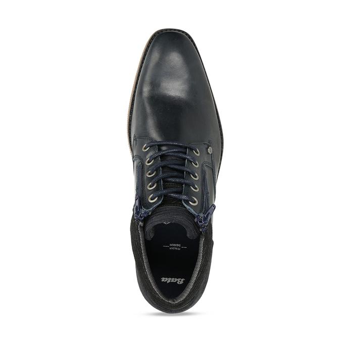 Kožená pánská kotníková obuv modrá bata, modrá, 826-9716 - 17