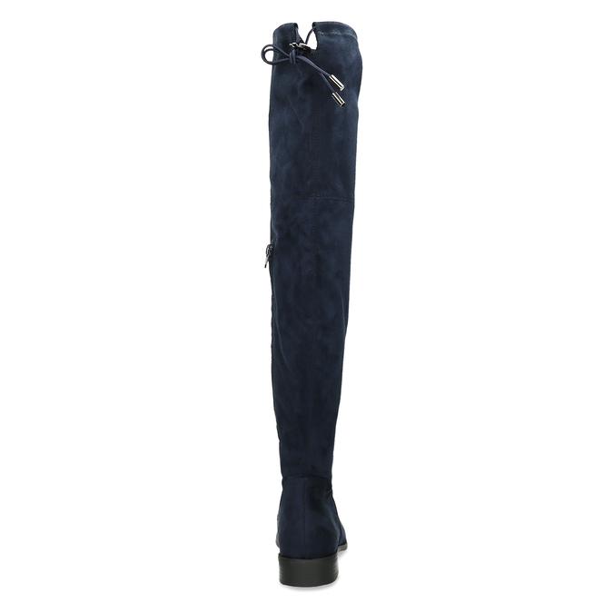 Tmavě modré vysoké kozačky na tenké podešvi bata, modrá, 599-9601 - 15