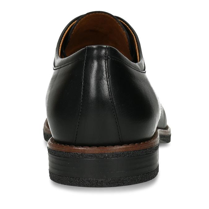 Černé kožené pánské polobotky conhpol, černá, 824-6746 - 15