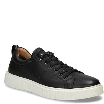Pánské kožené tenisky v černé barvě bata, černá, 846-2717 - 13