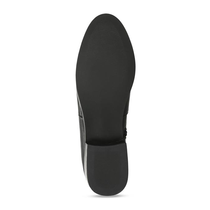 Černé dámské kozačky nad kolena bata, černá, 591-6610 - 18