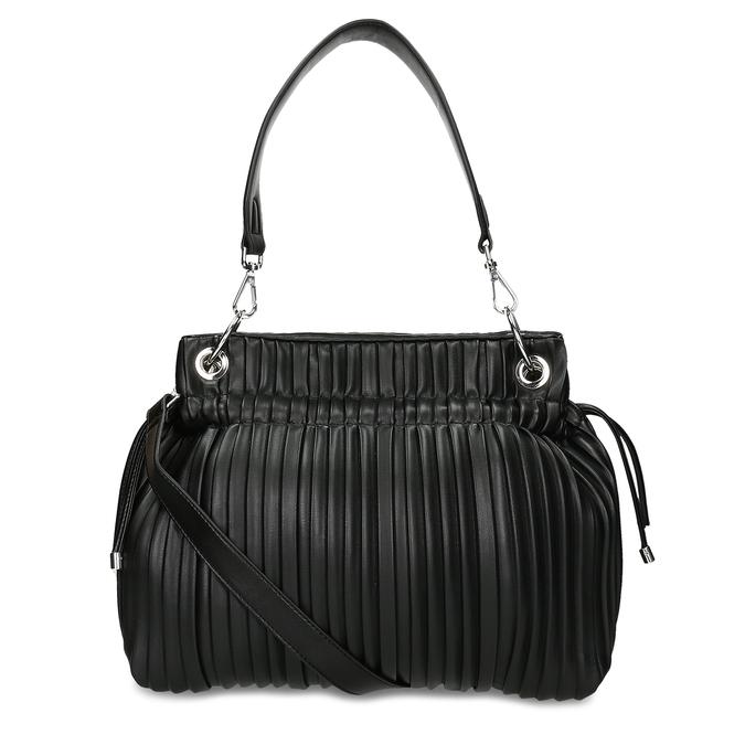 Černá dámská kabelka ze skládané koženky bata, černá, 961-6735 - 16