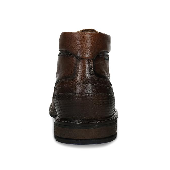 Hnědé pánské kožené kotníkové polobotky bata, hnědá, 826-3626 - 15