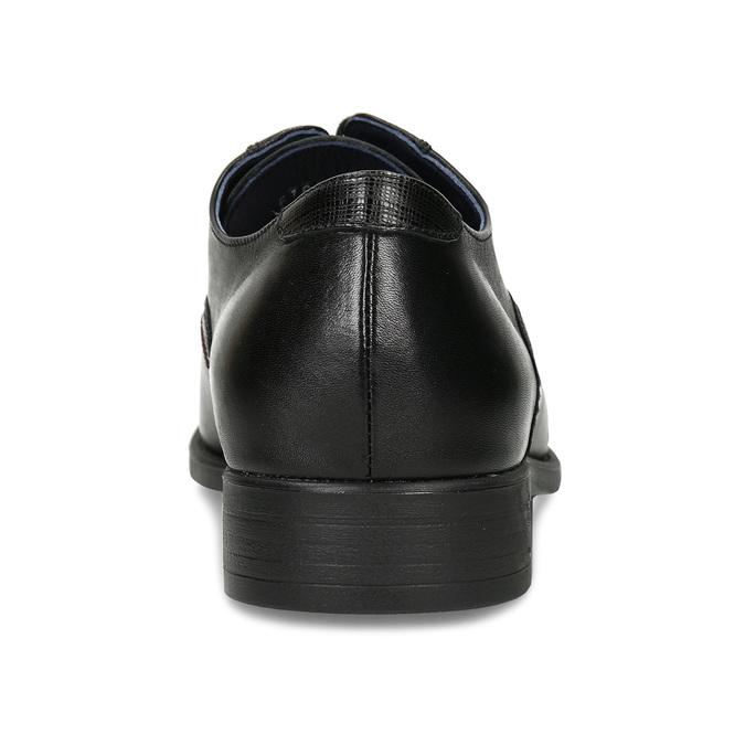 Kožené polobotky v derby stylu fluchos, černá, 824-6717 - 15